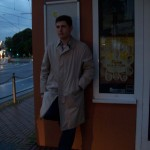 Jonah Gold in front of his barber's, September of 2010.